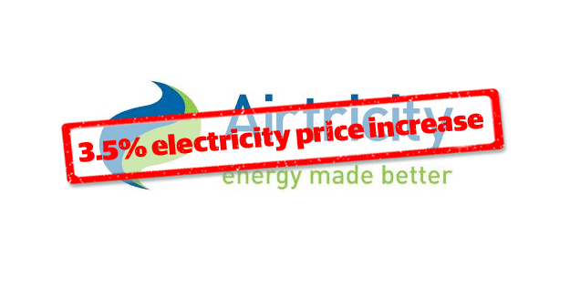 Airtricity to increase electricity prices from November 1st