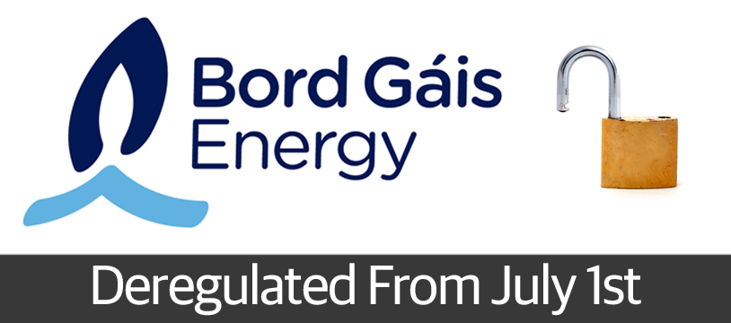 Bord Gáis Energy to be Deregulated July 1st