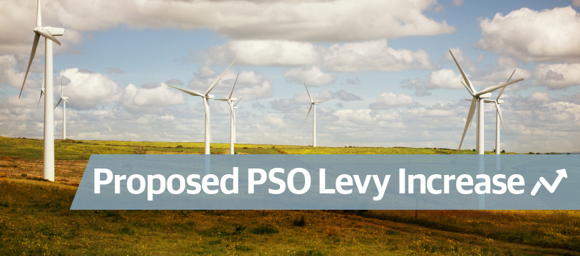 PSO Levy - increase of 47% proposed for electricity customers