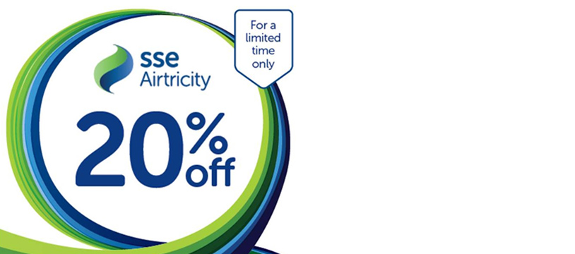 SSE Airtricity launches 20% electricity discount and new dual fuel offer