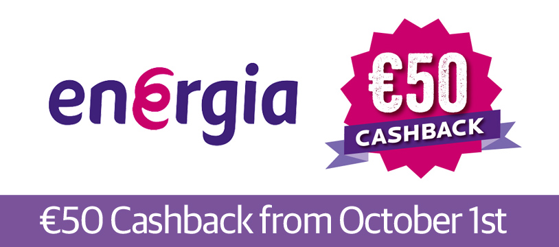 Energia offers €50 cashback deal for new customers