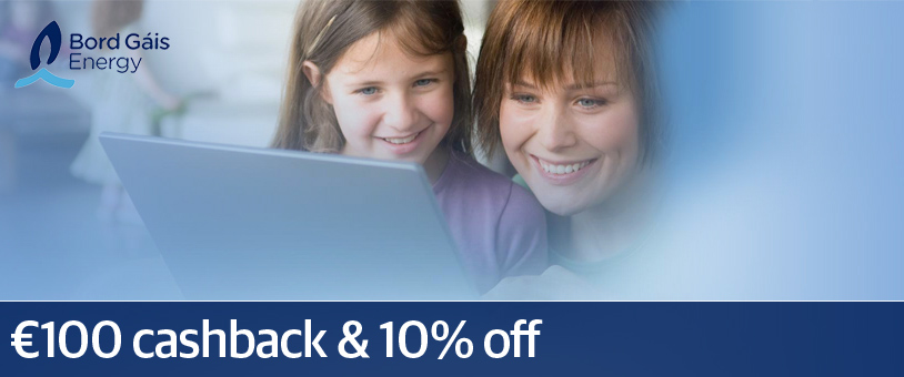 Bord Gáis Energy offers €100 cashback - whenever you want it