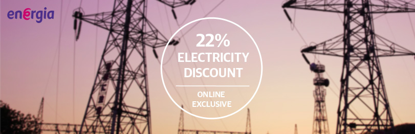 Energia Offers 22% Off Electricity to bonkers.ie Users