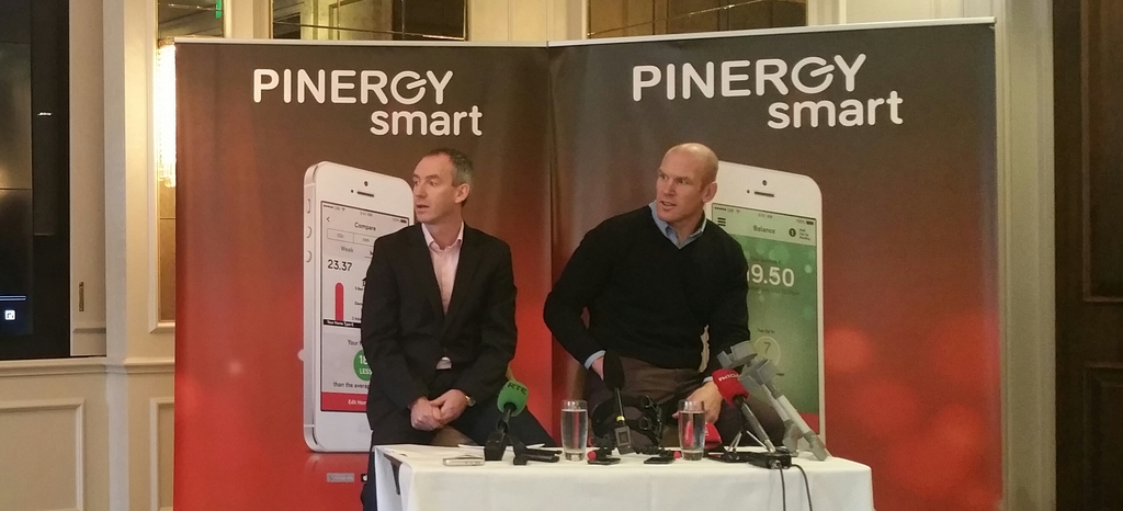 Pinergy CEO Enda Gunnell and Paul O'Connell