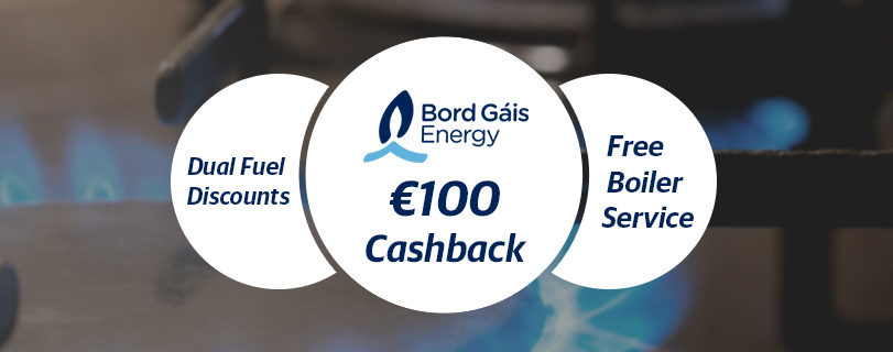 Bord Gáis Energy Announces New Discounts, €100 Cashback and Free Boiler Service