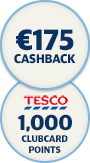 Bordgais points 175 cashback