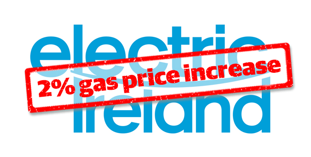 Electric Ireland Increases Gas Prices