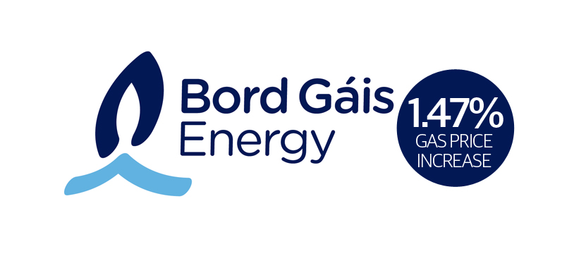 Bord Gáis Energy to increase prices by 1.47% in April