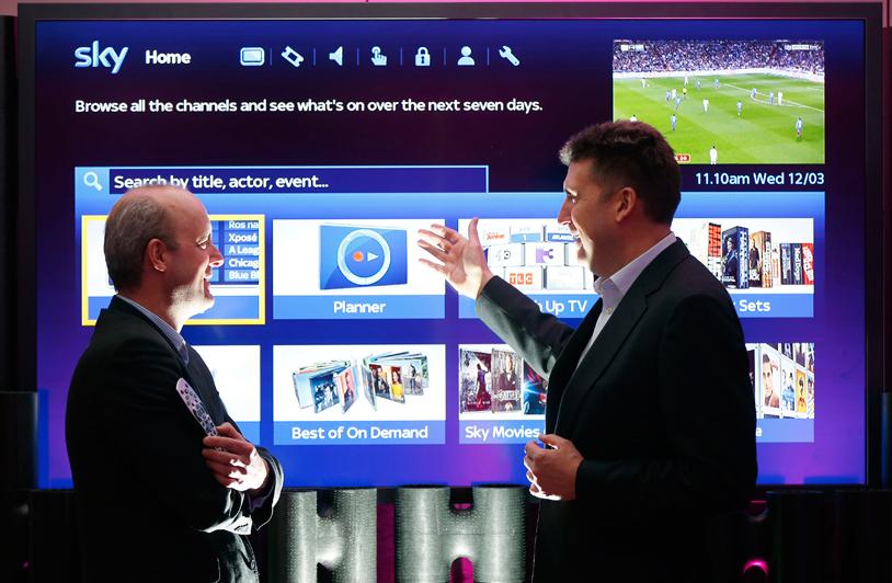 Alun Webber (left) Mark Anderson (right) discuss the new EPG